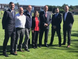 Brand Liaison Robert Moloney with Londis and the Football Committee