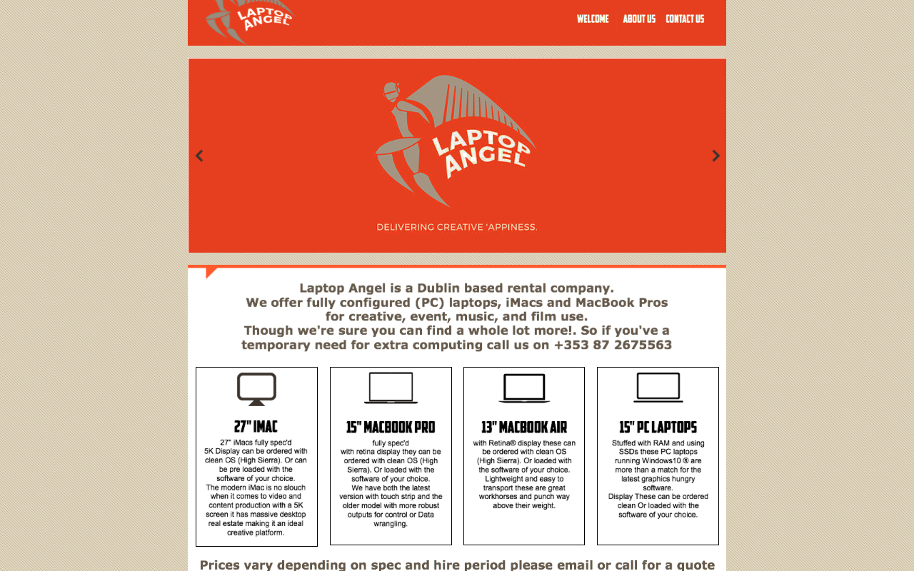 Laptop Angel, not a lap dancing club!
